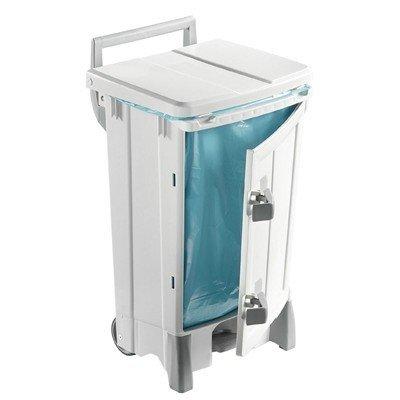 Bomabin Select Pedal Ergo - 90 L - BLANC - couvercle BLANC