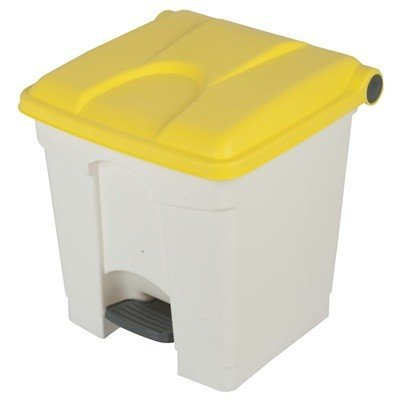 Bomabin Select Pedal - 30 l - BLANC - couvercle JAUNE