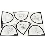 Bomabin Select Pedal - 45 l - WIT - deksel BLAUW