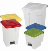 Bomabin Select Pedal - 45 l - WIT - deksel ROOD(Voorheen: Pedaalemmer Color - 45 l - WIT - deksel ROOD)