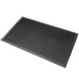 Rubber ringmat met rand 12,5 mm - 70 x 90 cm - GRIJS
