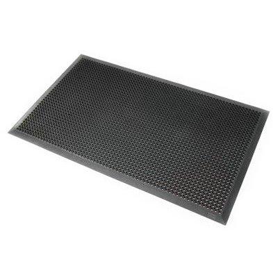 Rubber ringmat met rand 12,5 mm - 90 x 150 cm - GRIJS