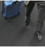 Tapis alvéolé en caoutchouc avec bord 12,5 mm - 90 x 150 cm - GRIS
