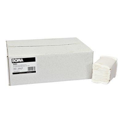Serviettes pour distributeur de table - tissu pur - 1 pli - 25 x 30 cm - BLANC - 1800 pièces (12x150)