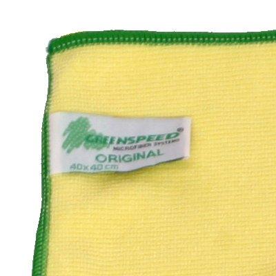 Lavette microfibres Greenspeed Original - 40 x 40 cm - JAUNE