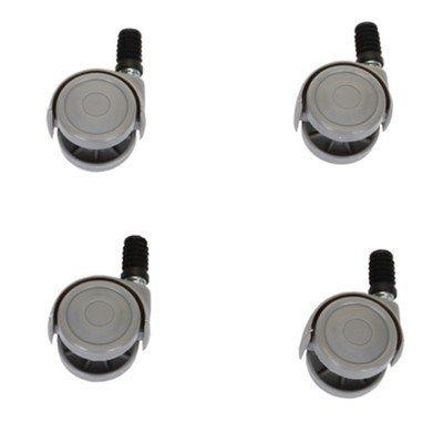 Set de 4 roues pour seau rectangulaire 20 l / bac de tri sélectif
