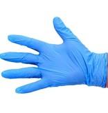 Wegwerphandschoenen nitril - ongepoederd - BLAUW - 100 stuks - LARGE