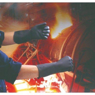 Handschoenen rubber - ZWART - MEDIUM