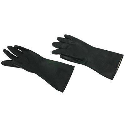 Handschoenen rubber - ZWART - LARGE