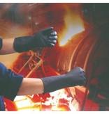 Handschoenen rubber - ZWART - EXTRA LARGE