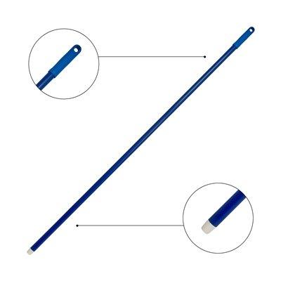 Glasfibersteel met schroefdraad - 140 cm - BLAUW