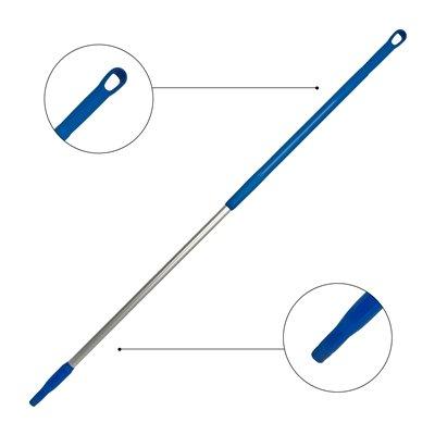 Ergonomische alusteel met schroefdraad - 150 cm - BLAUW