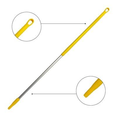 Ergonomische alusteel met schroefdraad - 150 cm - GEEL