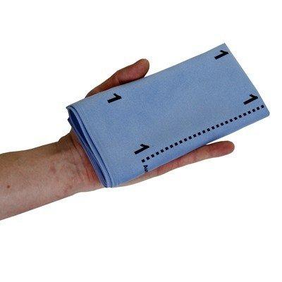 Microvezeldoek Greenspeed Topswipe met vouw-techniek bedrukking - 40 x 40 cm - BLAUW