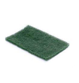Scrubby schuurpad dun - 15 x 10 x 1 cm - GROEN