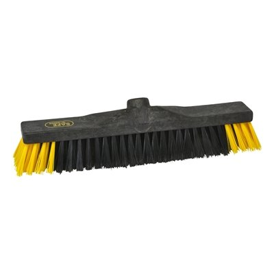 Werkplaatsbezem industrie - 40 cm - ZWART/GEEL