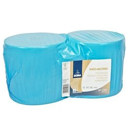 Maxi Multirol - recycled tissue - 2 laags - 370 m x 25 cm - BLAUW - 2 rollen