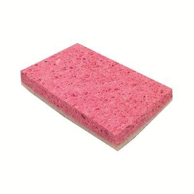 Éponge à récurer cellulose - 14 x 9 cm - ROSE/BLANC