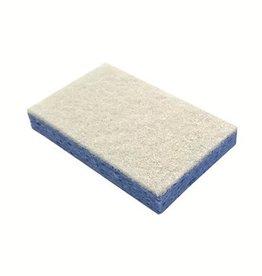 Éponge à récurer cellulose - 14 x 9 cm - BLEU/BLANC