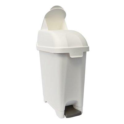 Admire poubelle/conteneur hygiénique - 10 l - modèle mural - BLANC