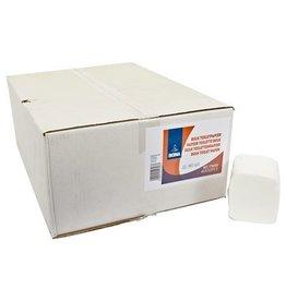 Toiletpapier vel-per-vel - zuiver tissue - 2-laags - 212 vel - WIT - 40 bundels