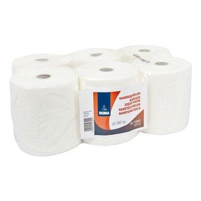 Handdoekrol - zuiver tissue - 3-laags - 100 m x 20 cm - WIT - 6 rollen