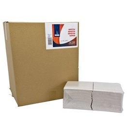 Servetten - 1 laags - 32 x 32 cm - WIT - 4500 stuks (9x500)