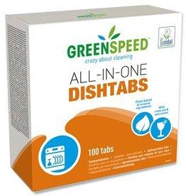 Tablettes de lave-vaisselle tout-en-un Greenspeed - 1.8kg - 100 tabs