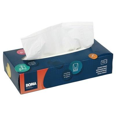Facial Tissue - 2 laags - 21 x 21 cm - 100 stuks