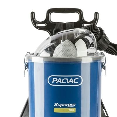 Aspirateur poussière dorsal avec cable PacVac Superpro 700