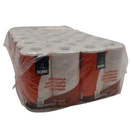 Traditioneel toiletpapier - zuiver tissue - 2-laags - 200 vel - gewafeld - WIT - 48 rollen (12x4)