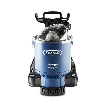 Aspirateur dorsal Pacvac Superpro Battery 700 Advanced2 sets batteries et chargeur inclus