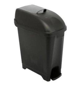 Admire poubelle/conteneur hygiénique - 10 l - modèle au sol - NOIR