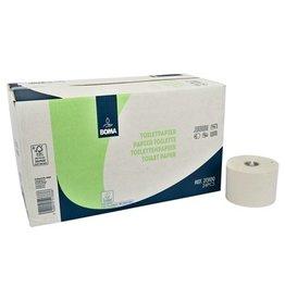 Papier toilette système avec inserts - tissu recyclé - 2 plis - 100 m / 725 coupons - BLANC - 24 rouleaux