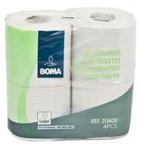 Traditioneel toiletpapier - recycled tissue - 2-laags - 400 vel - gewafeld - WIT - 40 rollen (10x4)