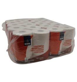 Papier toilette traditionnel - tissu pur - 2 plis - 400 coupons - gaufré - BLANC - 40 rouleaux (10x4)