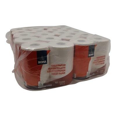 Traditioneel toiletpapier - zuiver tissue - 2-laags - 400 vel - gewafeld - WIT - 40 rollen (10x4)