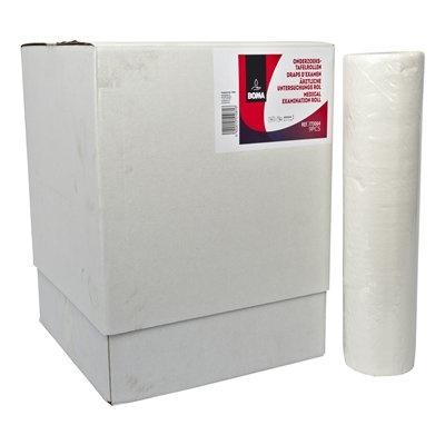 Draps d'examen - 40cm x 50 m - 143 feuilles - 2 plis - pure tissue - BLANC - 9 rouleaux