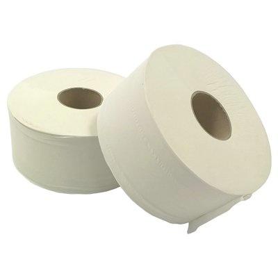 Papier toilette Mini Jumbo- tissu pur - 2 plis - 180 m  - BLANC - 12 rouleaux