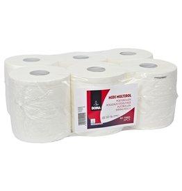 Midi Multirol - zuiver tissue - 2 laags - 160 m x 20 cm - WIT - 6 rollen