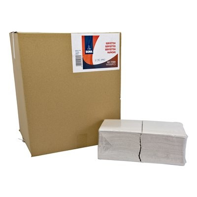 Serviettes - 1 pli - 32 x 32 cm - BLANC - 4500 pièces (9x500)