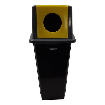 Bomabin Select Dome met flessendeksel - 80 l - ZWART - deksel GRIJS