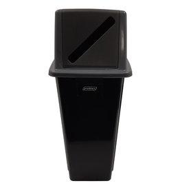 Bomabin Select Dome met papierdeksel - 80 l - ZWART - deksel GRIJS