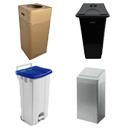 Grote afvalbakken & pedaalemmers / afvaleilanden / paraplubakken