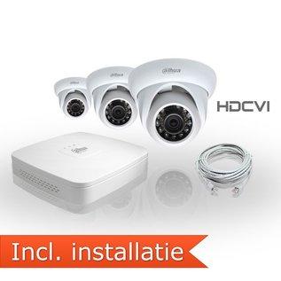 Dahua HDCVI Pakket 3 Camera's Inclusief Installatie