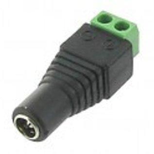 CCTV huismerk 12V female connector [ Bewakingscamera ] 2 aderig
