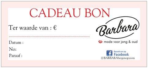 Cadeaubon- €50.-