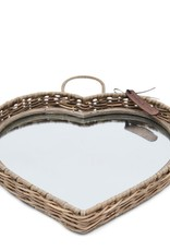 Rivièra-Maison Rivièra Maison Rustic Rattan Heart Mirror