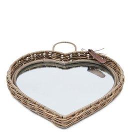 Rivièra-Maison RM Rustic Rattan Heart Mirror