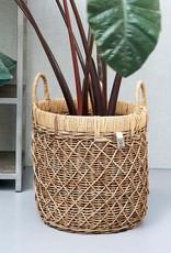 Rivièra-Maison Rivièra Maison Rustic Rattan Diamond Weave Basket Set of 2 pieces
